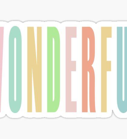 WONDERFUL Sticker