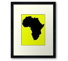 The continent of Africa map of African nation Framed Print