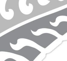 Jagged irregular trendy Silver fern New Zealand symbol Sticker