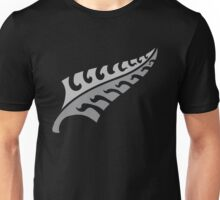 Jagged irregular trendy Silver fern New Zealand symbol Unisex T-Shirt