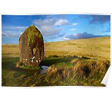 Standing stone above Ystradfellte Poster