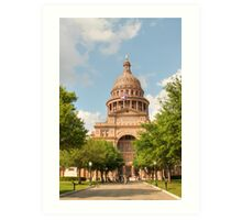 Texas State Capitol Building in Austin Art Print