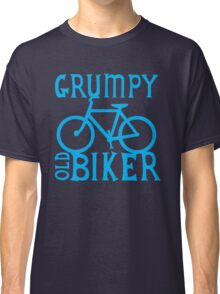 Grumpy old Biker with cycle riding bike bicycle Classic T-Shirt