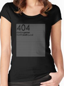 404 clothing error Women's Fitted Scoop T-Shirt