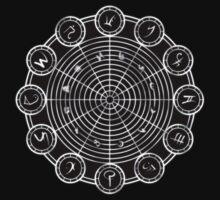 Mystic Circles - ZODIAC House Kids Tee