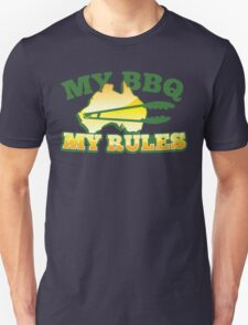 MY BBQ (barbecue) MY RULES Aussie Australian flag and tongs T-Shirt