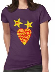 Number 1 Mum Womens Fitted T-Shirt