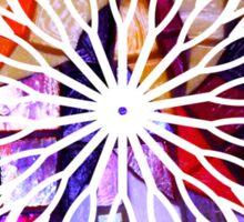 Star Flower Purple,  photography of shiny mosaic - JUSTART © Sticker