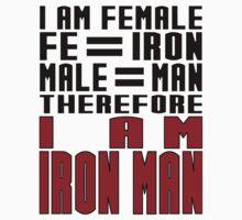 Female = Iron Man T-Shirt