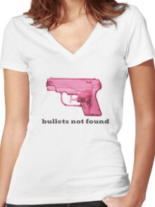 .404 water error Women's Fitted V-Neck T-Shirt