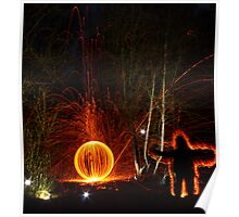 Wire wool may cause fire Poster