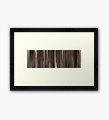 Moviebarcode: Love and Death (1975) Framed Print