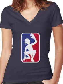 Ring finders League Women's Fitted V-Neck T-Shirt