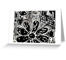 Black graffiti  Greeting Card