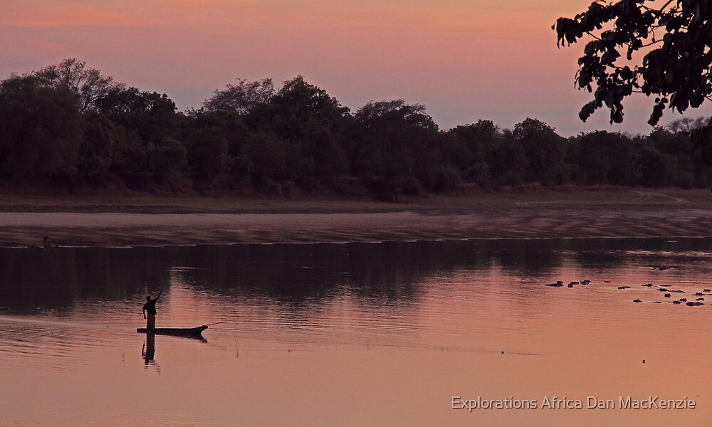 Luangwa sunrise by Explorations Africa Dan MacKenzie