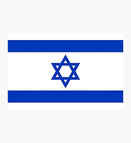National flag of the State of Israel - high quality authentic file Photographic Print