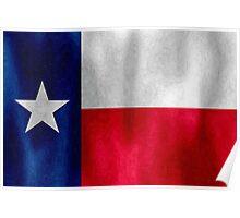Texas Lonestar Flag in Digital Oil Paint Poster