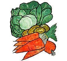 Lettuce, Carrots & Potatoes Photographic Print