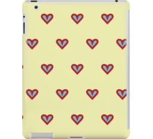 The pattern in the hearts iPad Case/Skin