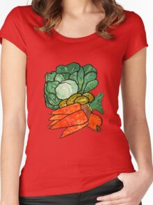 Lettuce, Carrots & Potatoes Women's Fitted Scoop T-Shirt