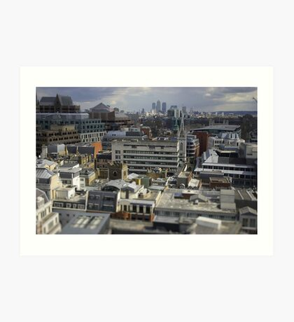 Looking down on the city Art Print