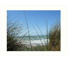 Sea in background Art Print