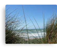 Sea in background Canvas Print