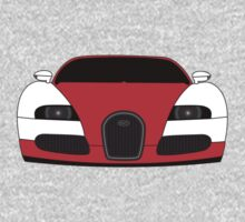 Bugatti Veyron Red One Piece - Long Sleeve
