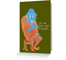 The Demon Storyteller Greeting Card