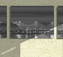 composition 3 window - pic2line - Bridge in Amsterdam by AnnoNiem