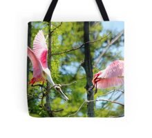 Roseate Spoonbill Fight Tote Bag