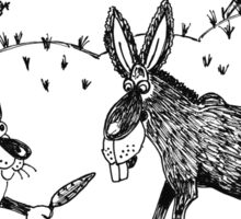 Puss and donkey Sticker