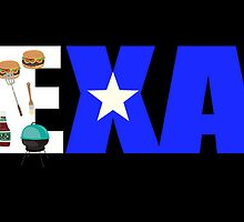 Texas Lone Star BBQ Digital Art by SJBroadmeadow