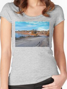 rural road Women's Fitted Scoop T-Shirt