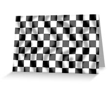 Chequered Flag Slight Ripple Greeting Card