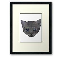 kitten head Framed Print
