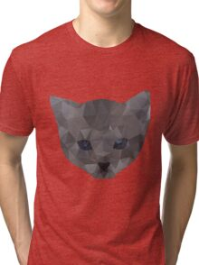 kitten head Tri-blend T-Shirt