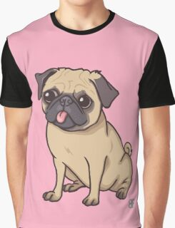 PUG (pink) Graphic T-Shirt