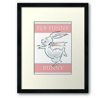 Fly Funny Bunny Framed Print