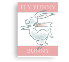 Fly Funny Bunny Canvas Print