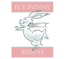 Fly Funny Bunny Photographic Print