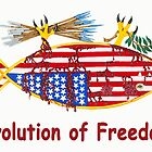 Evolution of Freedom Poster by Hardluck  Studios