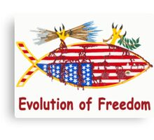 Evolution of Freedom Poster Canvas Print