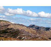 hiking path and mountains at Johnston's Ridge Photographic Print