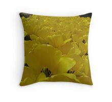 Yellow hearts! Throw Pillow