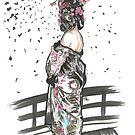 Lottie Kixx - Gasmask Geisha by Tony Heath