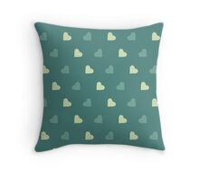 The pattern in the hearts Throw Pillow
