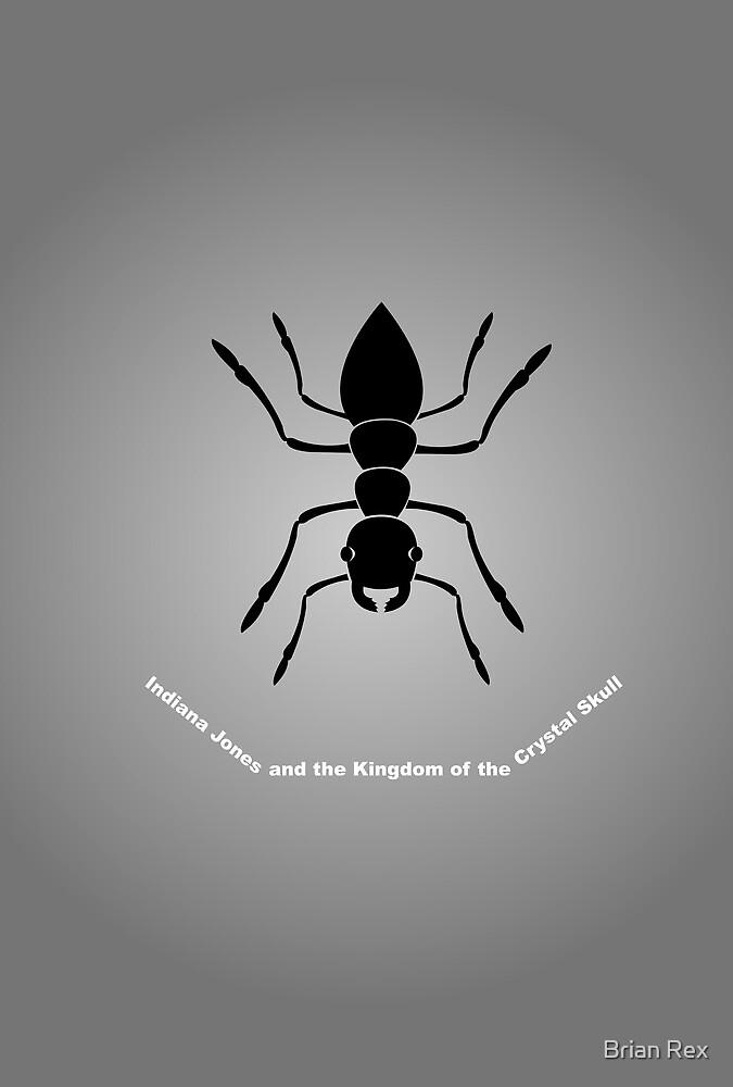 """Kingdom of the Crystal Skull"" Minimalist Poster by Rechenmacher"