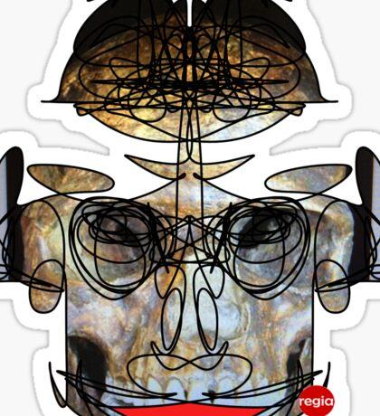 Skeleton Skull Graphics by RegiaArt  Sticker