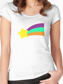 Shooting Star // Mabel Pines Women's Fitted Scoop T-Shirt